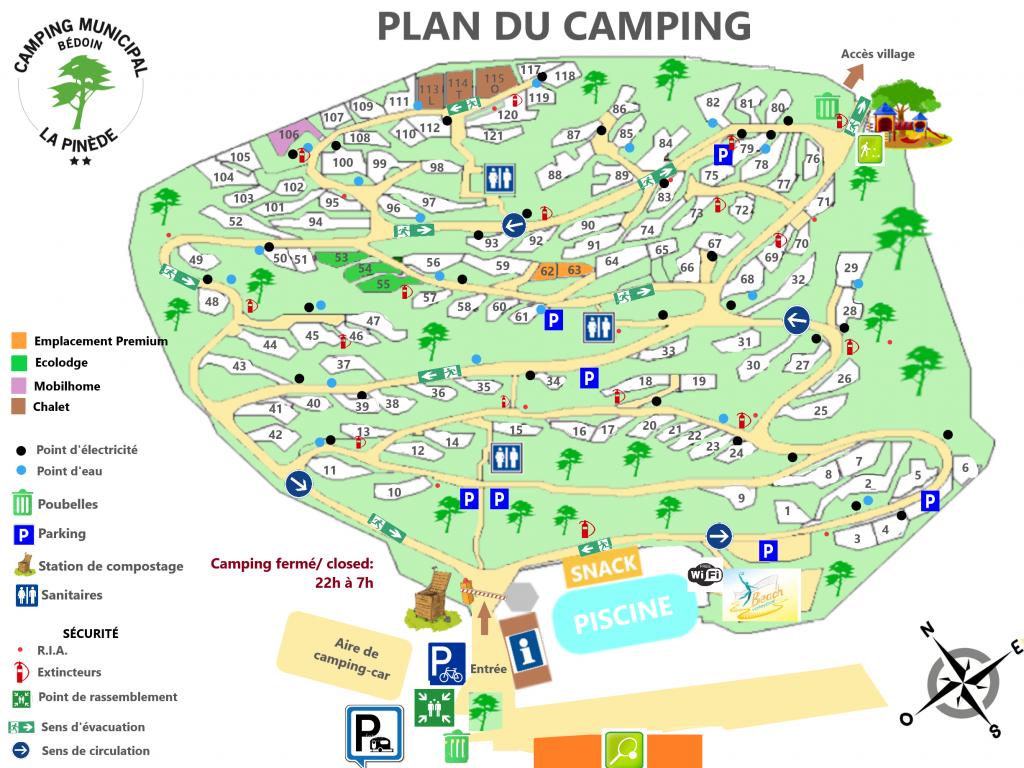 camping bédoin Pinède